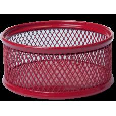 Підставка для скріпок 80х80x40мм, металева, червоний, BM.6221-05