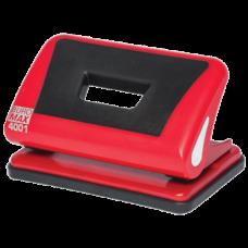 Діркопробивач пластиковий з гумовою вставкою, (до 10арк.), червоний BM.4001-05