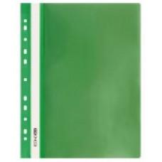 Швидкозшивач пласт. А4 Е31510-04 глянець з європефорацією зелений