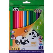 Кольорові олівці, 18 кольорів, KIDS LINE ZB.2415