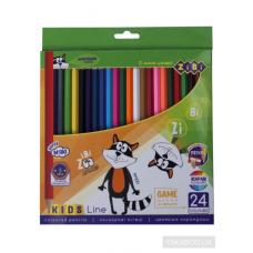 Кольорові олівці, 24 кольорів, KIDS LINE ZB.2416