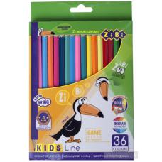Кольорові олівці, 36 кольорів, KIDS LINE ZB.2417