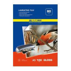 Плівка для ламінування 80мкм, A5 (154х216мм), 100 шт., ВМ. 7753