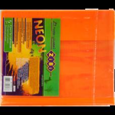 Обкладинка для зошитів NEON А5 з клапаном, PVC, помаранчова, ZB.4760-11