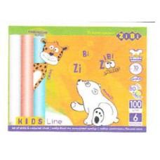 Крейда біла +кольорова 100шт., картонна коробка, ZB.6718-99