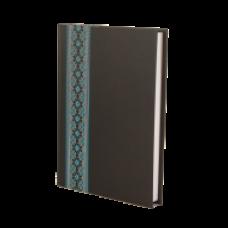Щоденник недатований UKRAINE, A5, 288 стр. чорний ВМ. 2021-01