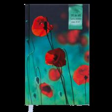 Щоденник недатований GRACE, A6, 288 арк., т.-бірюзовий ВМ.2603-35