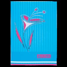 """Книга обліку """"Квіти"""" 80 арк., А4, блакитний ВМ.2300-614"""
