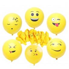 """шар воздушный """" СМАЙЛ """" 12 ярко-жёлтый. 992159. 50шт/уп."""