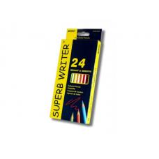 "Кольор. олівці ""MARCO"", 24 кольор. SUPERB WRITE 4100-24СВ"