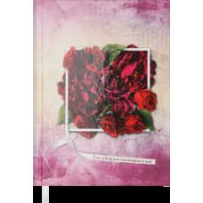 Щоденник недатований DAISY, A5, 288 арк., вишневий.BM.2044-44