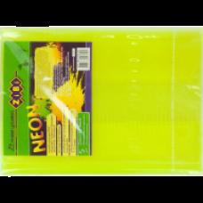 Обкладинка для підручника NEON з клапаном 250*420мм, PVC, жовта, ZB.4750-08