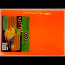 Обкладинка для підручника NEON з клапаном 250*420мм, PVC, помаранчова, ZB.4750-11