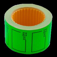 """Цінник 35*25мм, """"ЦІНА"""",  (240шт, 6м), прямокутний, зовнішня намотка, зелений.BM.282106-04"""