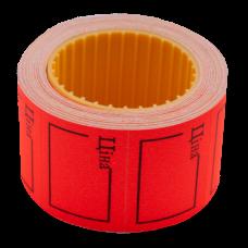 """Цінник 35*25мм, """"ЦІНА"""",  (240шт, 6м), прямокутний, зовнішня намотка, червоний.BM.282106-05"""