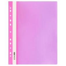 Швидкозшивач пласт. А4 E31510-09 глянець з європерфорацією рожев