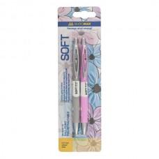 Набір із 2-х кулькових ручок (BM.8236) SOFT, блістер. BM.8236-52