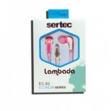 """Наушники Sertec lambada EC-62 вакуум, 3,5"""" pink-white"""