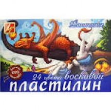 """Пластилін """"Луч"""" 24кол. восковий Фантазія 25С1525-08"""