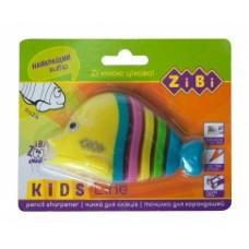 Чинка для олівців РИБКА з контейнером, 1 отв. блістер, асорті. ZB.5531-5