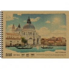 Альбом для малювання на спір. KRAFT, 40 арк. 120 г/м A4, AR4740
