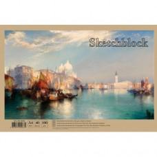 Альбом для малювання на спіралі 40арк.100 г/м A4  АА4640