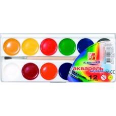 "Акварель ""Луч"" 12 кольор. ""Класика""/""Акваріум"", шар. 19С1286-08 б/к"