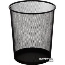 Корзина для паперів кругла 295x238x345мм, металева, чорна, ВМ. 6270-01