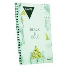 "Блокнот TM Profiplan Office ""Black & Gold"" triangle, А5. 900848"