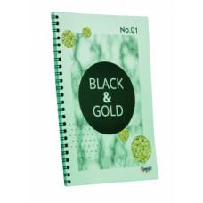 """Блокнот TM Profiplan Office """"Black & Gold"""" round, А5. 900831"""