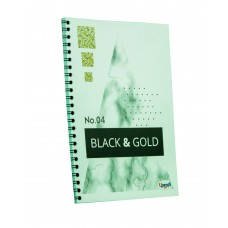 "Блокнот TM Profiplan Office ""Black & Gold"" rectangle, А5. 900862"