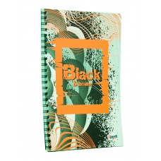 """Блокнот TM Profiplan Office """"Black & Bright"""" orange, А5. 900876"""