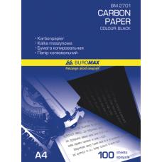 Папір копіювальний 210x297мм, 100 арк., чорний, ВМ. 2701