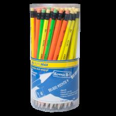 Олівець графітовий NEON НВ, неоновий, з гумкою, туба? ВМ. 8520