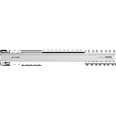 Лінійка 50см. Buromax, пластик. прозора в блыстеры ВМ 5826-50
