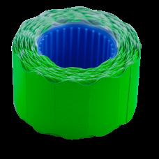 Цінник 26*12мм (500шт, 6м), фігурний, зовнішня намотка, зелений BM.282202-04
