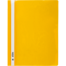 Швидкозшивач пласт. А4, PP,  жовтий BM.3311-08