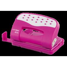 Діркопробивач металевий з пластиковою накл. (до 12арк.), рожевий BM.4014-10