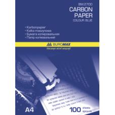 Папір копіювальний BUROMAX 210*297 100арк., синій, ВМ. 2700