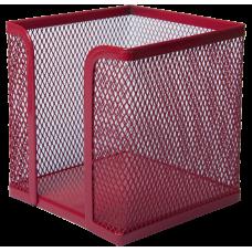 Бокс для паперу 100х100x100мм, металевий, червоний. BM.6215-05