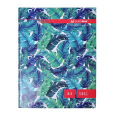 """Книга обліку """"FLORISTICA"""" 144 арк.кліт.оф.(тв. лам. обл), А4, бірюзовий. BM.24419102-06"""
