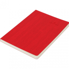 Блокнот діловий COLOR TUNES А5, 96 арк, чистий, обкладинка штучна шкіра, червоний, ВМ. 295000-05