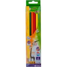 Кольорові олівці, 6 кольорів, KIDS LINE ZB.2413