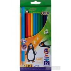 Кольорові олівці, 12 кольорів, KIDS LINE ZB.2414