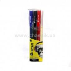 Набір ручок гел. Hiper Teen Gel HG-125/3 0,6 мм (чорн/черв/синя)