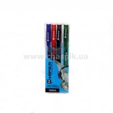 Набір ручок гел. Hiper Teen Gel HG-125/4 0,6 мм (чорн/черв/синя/зел)
