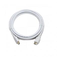Кабель HDMI 1,0м Cablеxpert CC-HDMI4-W-1M, HDMI V.1.4, з позолоченими конекторами, белый