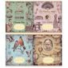 Зошит 12арк. клітинка АРКУШ 51104 Вінтаж / автосалон / ніжна