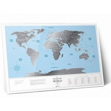 Travel Map Silver World (рама)
