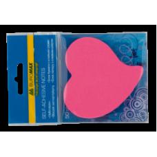 """Блок для нотаток """"Серце"""", 50 арк., асорті, неон BM.2362-99"""